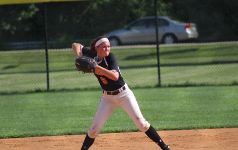 Lindsay Renneisen playing second base during the sixth vs. seventh region all star game.