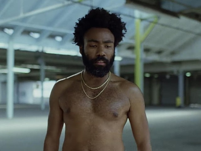 Still from Glover's music video for 'This is America'.