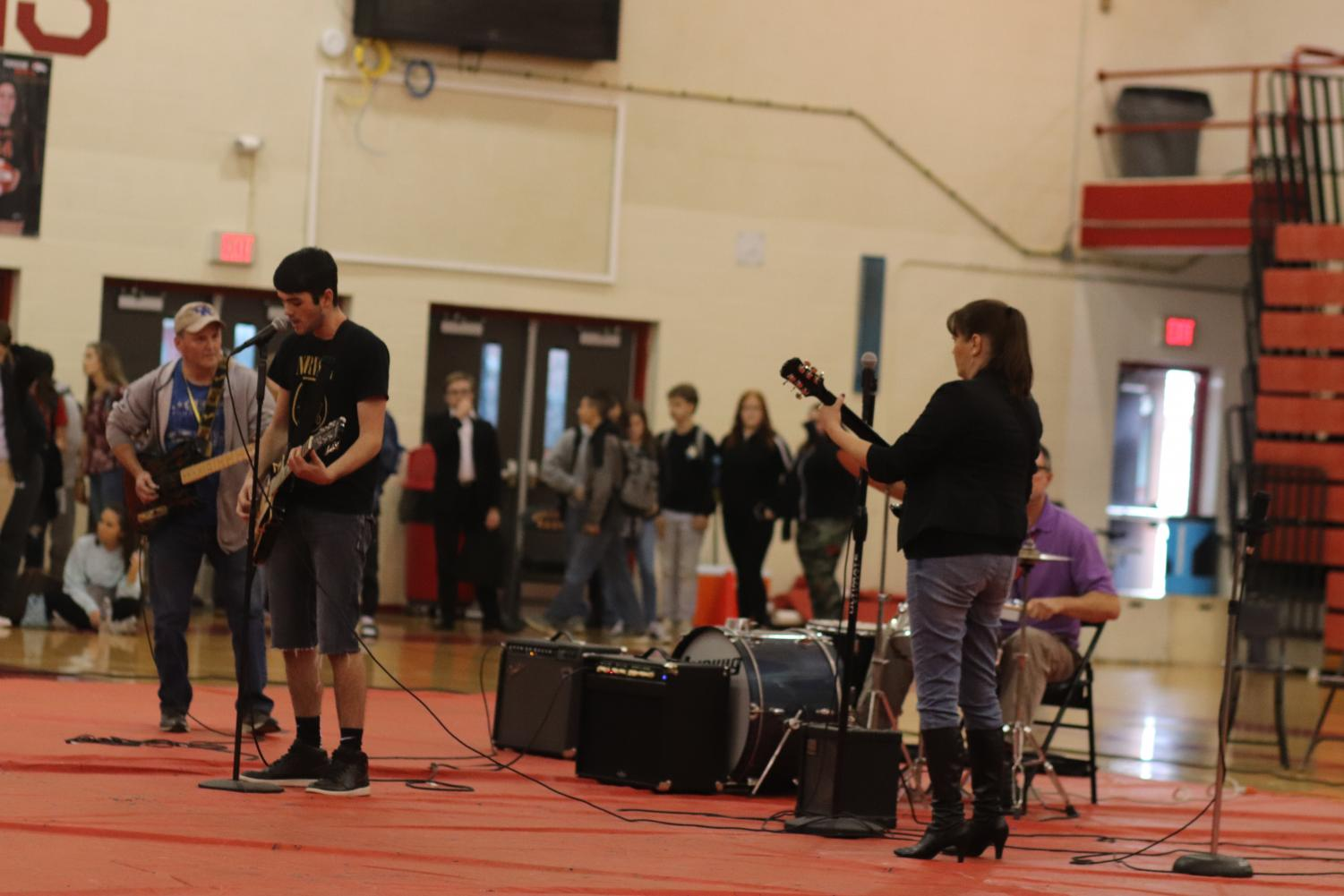 Social studies teacher Monty Edwards and his family used their musical talent to perform