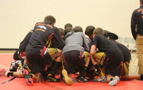 The wrestling team prepares for their upcoming match against Taylor County High School on Jan. 9. With the team as a whole in need of improving their rankings, the successes of individual members have demonstrated how hard each team member has been working to better their abilities, and with this sport already being time-consuming and challenging in itself, their efforts have been especially acknowledged.