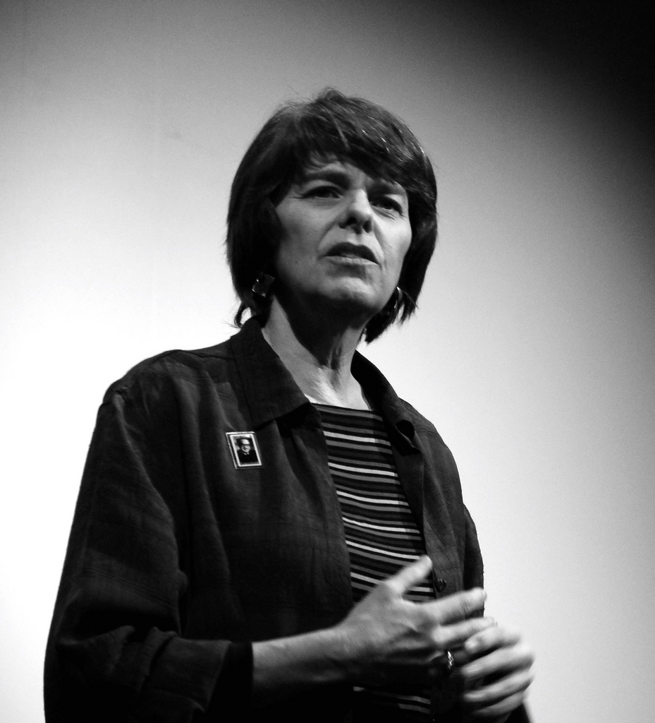 Mary Beth Tinker is pictured above, and still speaks to students across the country about their rights.