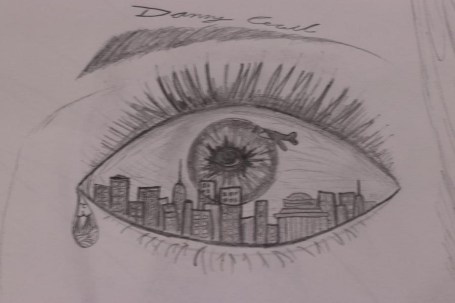 %22Through+the+Eyes+of+the+Artist%2C%22+drawn+by+senior+Danny+Cecil.