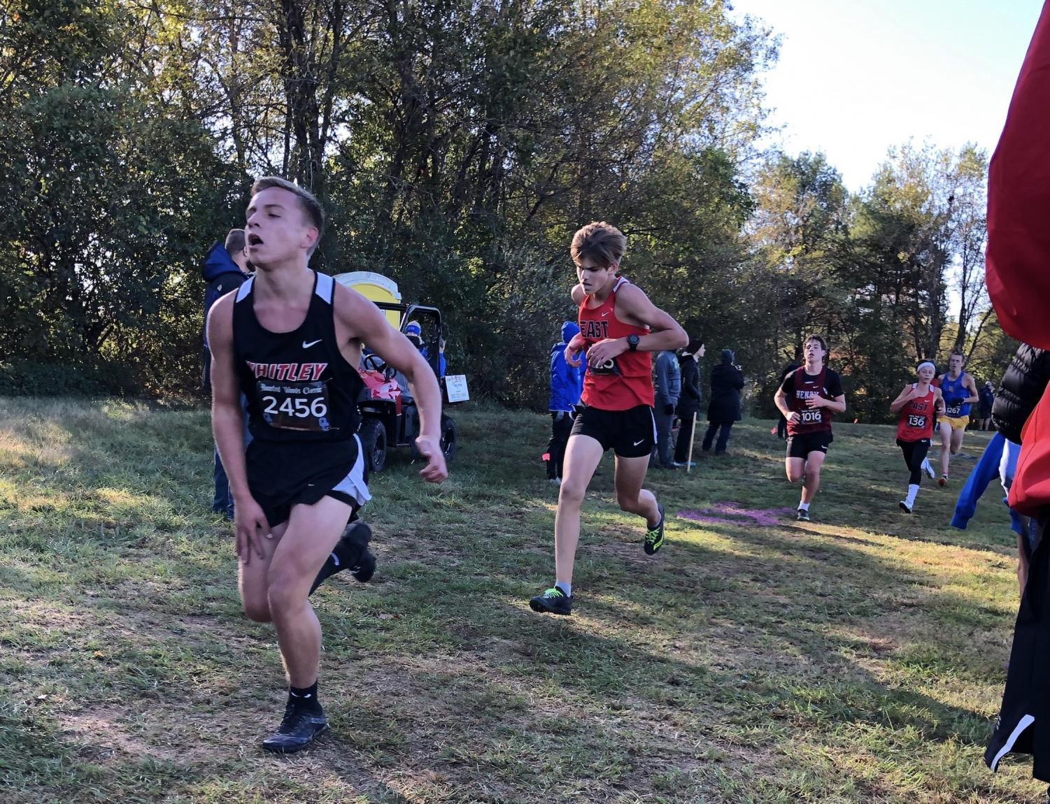 Sophomore Tyler Bass finishes strong in the Haunted Woods Classic. The whole team is very happy with all of their placements.