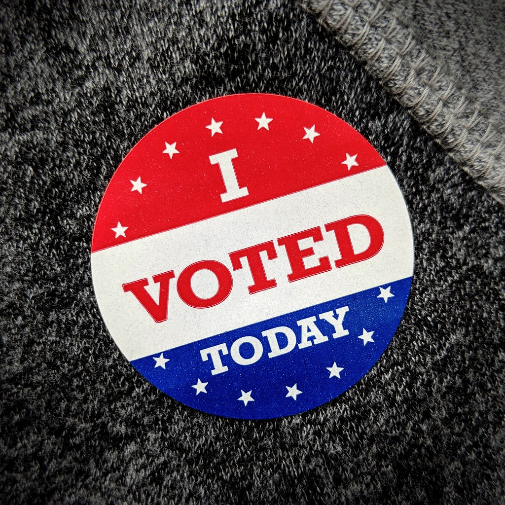 Photo credit: creative commons. An example of a sticker voters get after submitting their ballots.