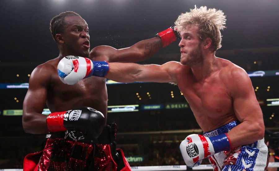 Paul+and+KSI+exchange+hits+in+the+third+round+of+the+rematch.+The+match+ended+with+KSI+being+the+victor+after+majority+rule.+