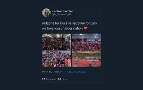 Senior Lady Chargers basketball player Madison Thornton tweeted this to her personal Twitter Monday afternoon.
