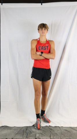Senior Tyler Bass poses in the pre-season. Bass has performed well for the Chargers and placed well in his meets so far.