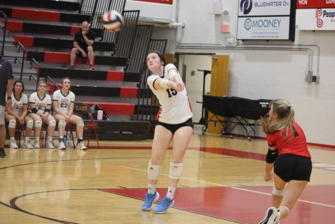 Bullitt East played their last home game against South Oldham Oct. 14. Senior Grace Satterfield hits the volleyball and returns it after a serve. This game isnt just an athletic game, its also a mind game and you have to have the right mindset to play. With that being said Thursday against South Oldham was a mindset game. South Oldham wanted to win the game but so did we. We never gave up in that game and to me that shows a great mindset, Satterfield said.