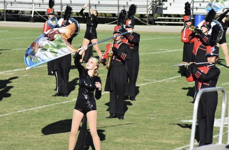 The Marching Band performed twice at their competition. They were grateful for that second chance to be able to use the second performance to help their score. This might have not been the most successful competition yet but I think we really know what were working for now which is definitely beneficial, junior color guard member Kiara Warren said.