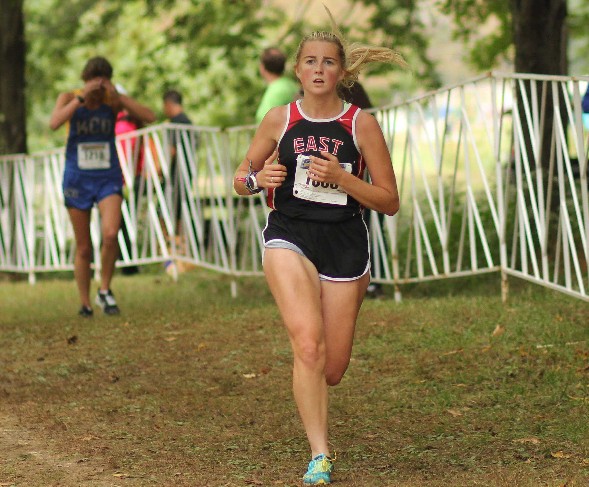 Meredith Thornsberry has been running for Bullitt East for most of her high school career. She is continuing to improve more and more each year.