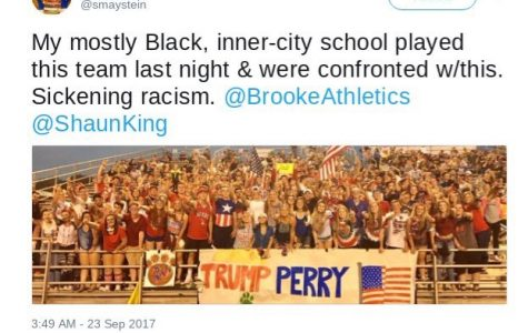 Racial Controversy over Friday Night Football Banner