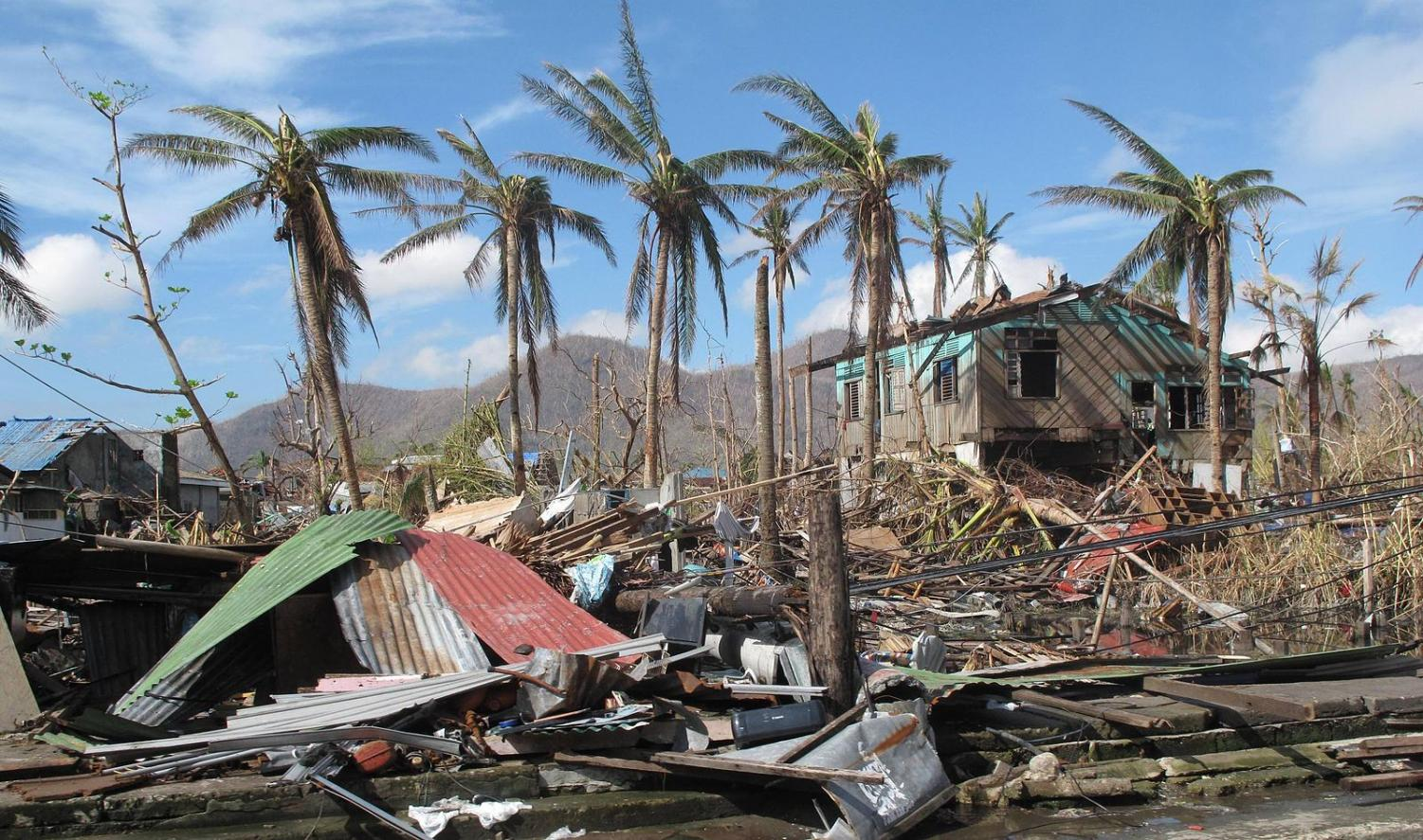 A look at the damage from the typhoon. Many are missing and many people have been killed.
