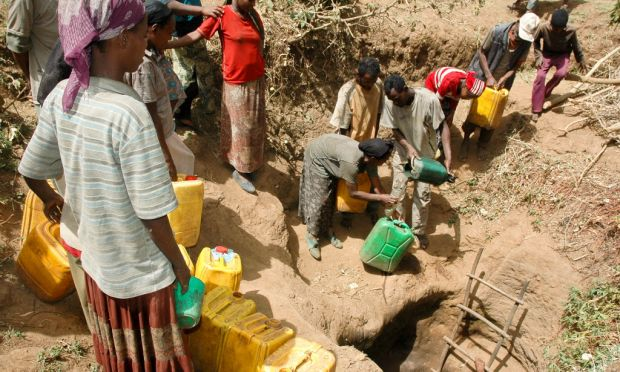 Africans in desperate need of water.