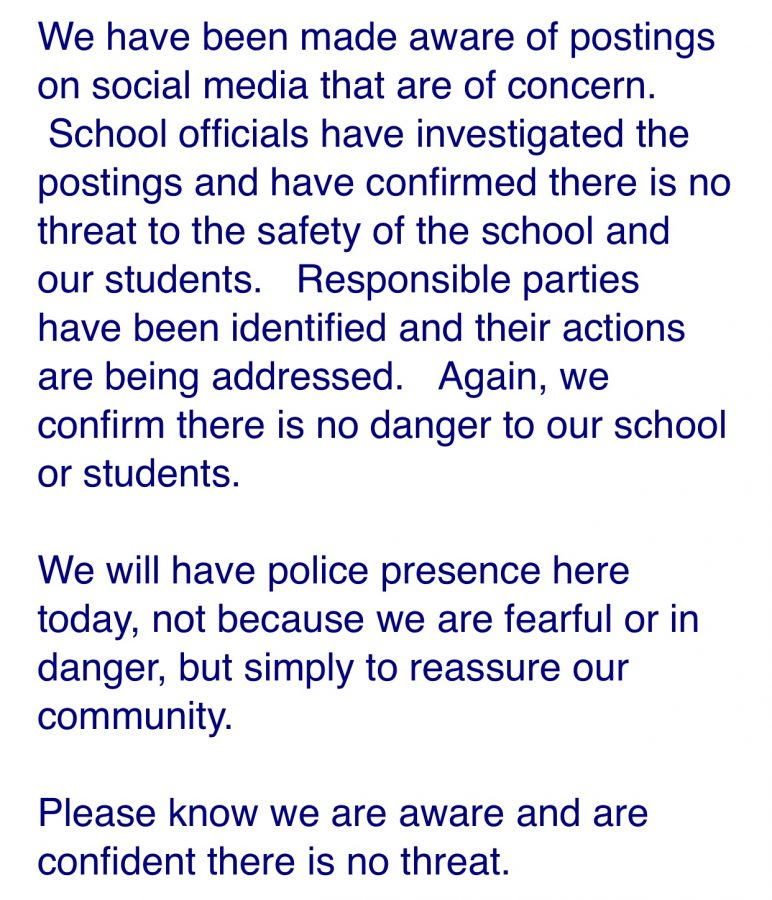 This+email+was+sent+to+all+staff+and+parents+of+students+to+assure+the+safety+of+the+East+community.