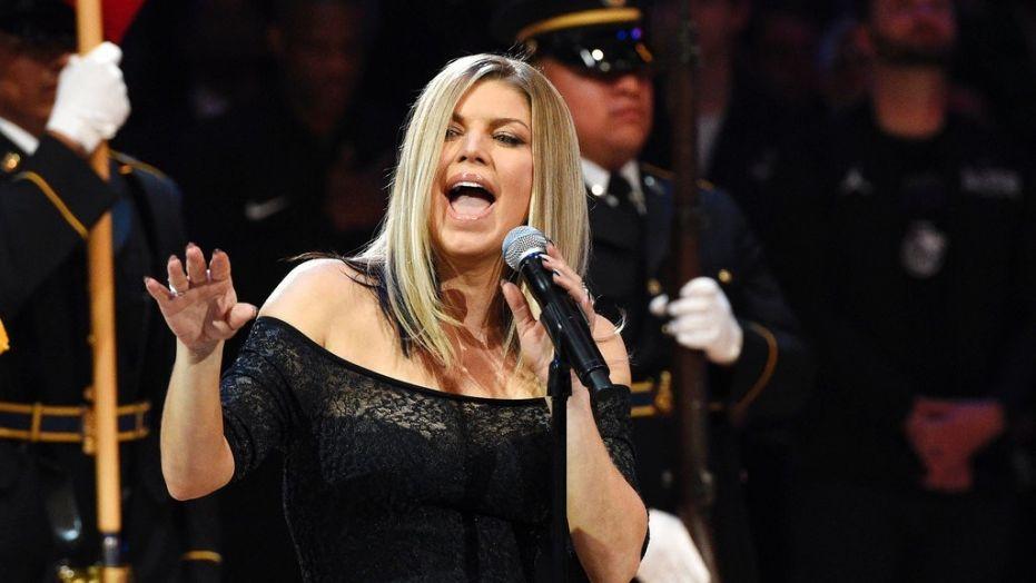Fergie singing the National Anthem