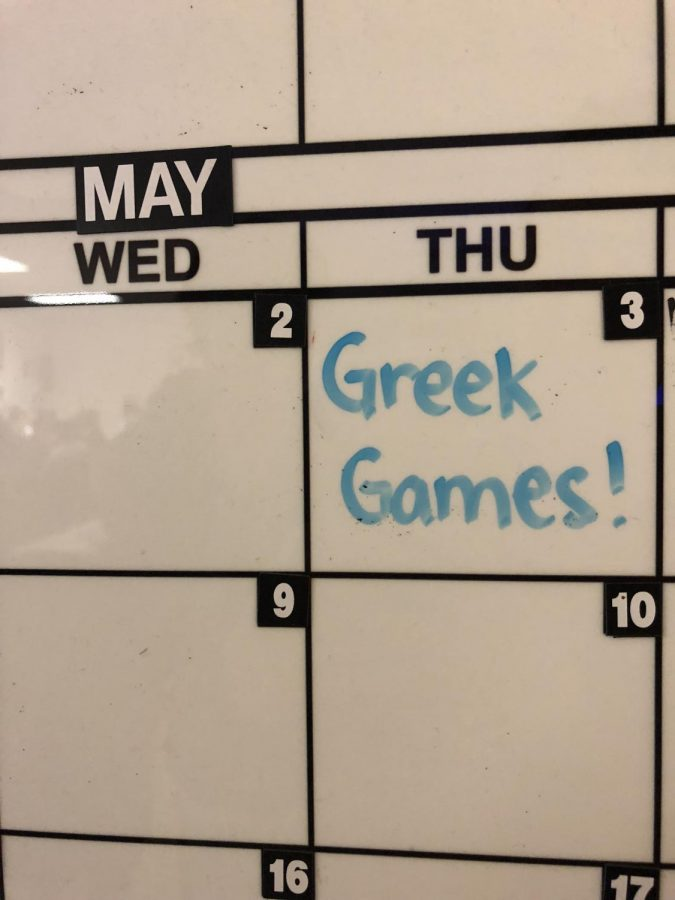 Charger nation is ready for the annual Greek Games on May 3.