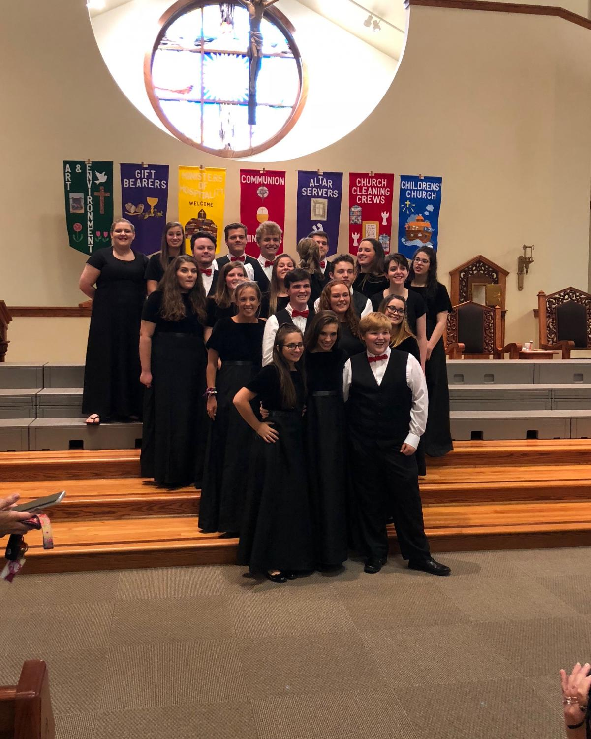 Advanced choir was one group to sing in the concert. They sung several songs, and it seemed most were happy with how the event went.