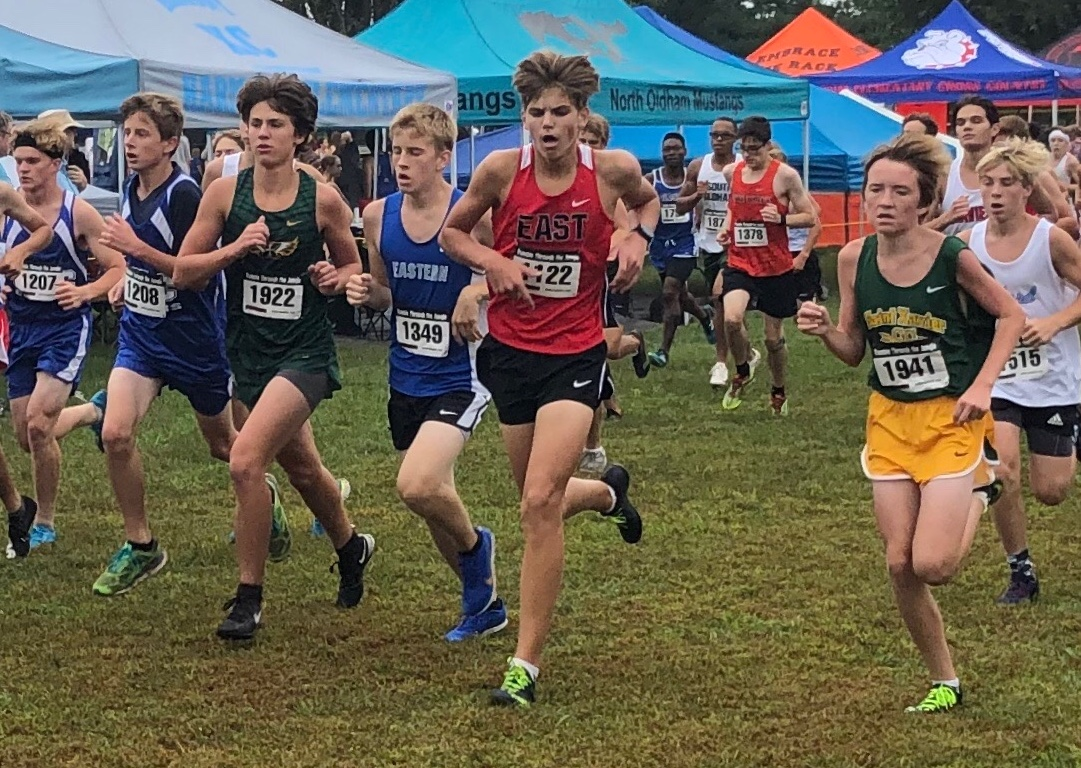 Sophomore Tyler Bass pushes himself to the limit against competition.