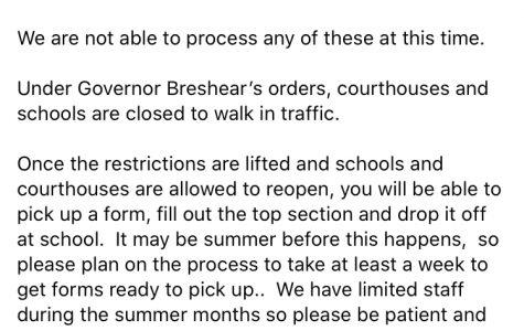 Post from Bullitt East High School's Facebook Page.
