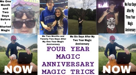 Junior Brodie Curtsinger's development from day one of magic to his four year magic anniversary.
