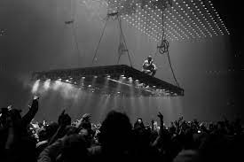 Kanye performing The Life Of Pablo; another album that he was similarly late for.